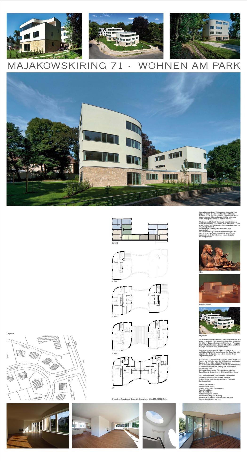 46 wohnen am park majakowskiring 71 bda berlin publikumspreis. Black Bedroom Furniture Sets. Home Design Ideas