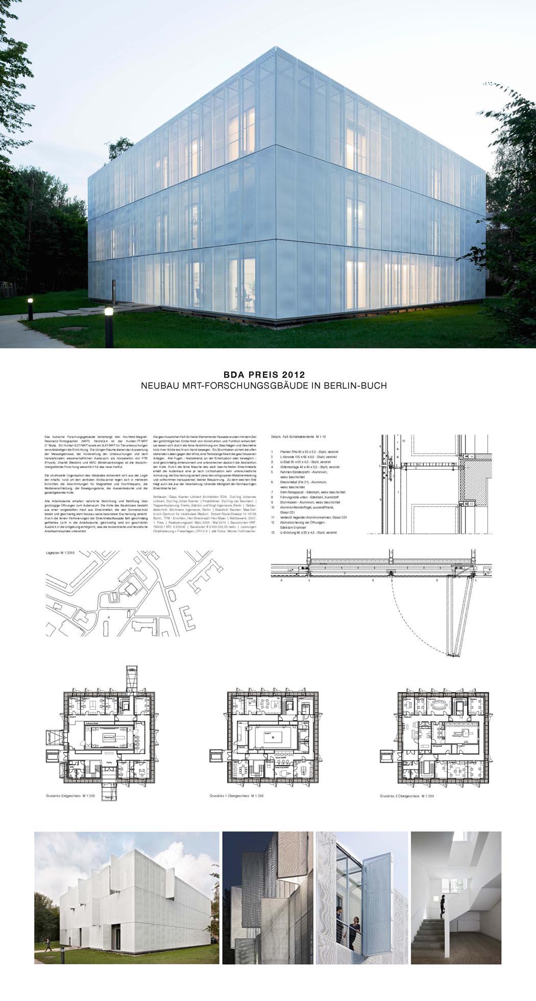 Architekten In Berlin 54 neubau mrt forschungsgebäude in berlin buch bda berlin publikumspreis