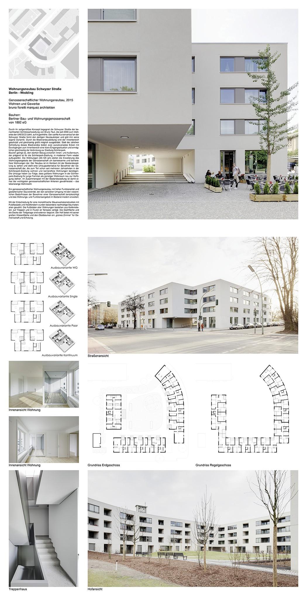 58 Wohnungsneubau An Der Schillerpark Siedlung Schwyzer Straße 1
